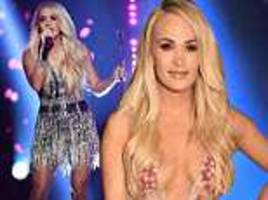 ACM Awards 2018: Carrie Underwood performs after facial injury