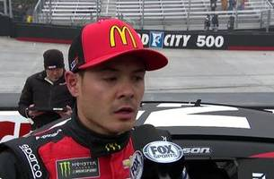"Kyle Larson on losing lead to Kyle Busch at Bristol: ""That gets frustrating after awhile"" 