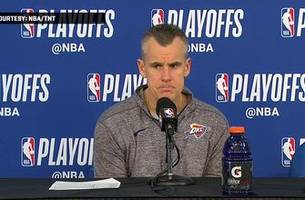 billy donovan on melo's defense in game 1   jazz at thunder