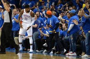 Playoff P Paul George scores 36, leads Thunder past Jazz