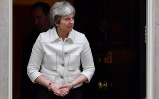 may tells corbyn: you'd hand russia a veto on our foreign policy
