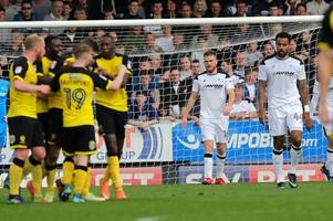 the monday verdict: abject and unacceptable performance sees derby county crumble to burton albion loss