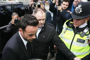 Ant McPartlin fined £86,000 and banned from the roads after admitting drink driving