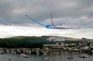The Red Arrows will perform in only one place in Cornwall this year - at Falmouth Week