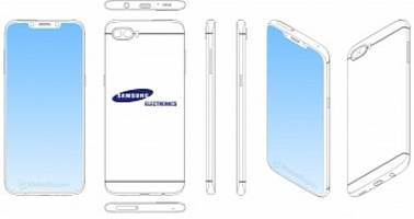 Samsung Exploring Phone Design with Notch, A La iPhone 6 Back