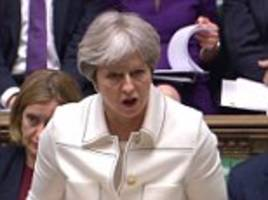 theresa may denies being led by us president as she delivers passionate defence of syria air strikes
