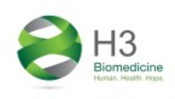 H3 Biomedicine Reports Discovery of Recurrent RNA Splicing Factor Mutations in Non-Hodgkin's Lymphoma and Multiple Myeloma