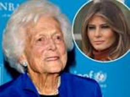 first lady melania trump will attend barbara bush's private funeral service on saturday