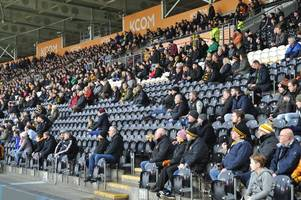 hull city set to record a new low in average attendances at the kcom stadium