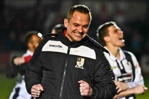 stafford rangers 3, wolverhampton sporting community 1: neil kitching delighted as boro reach staffordshire senior cup final