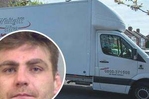 removal trucks have been spotted outside the pensioner's home where burglar henry vincent died
