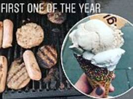 brits celebrate heatwave hot weather with barbecues and ice cream