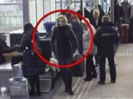 cctv shows russian spy's daughter at moscow airport before she flew to britain