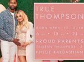 Khloe Kardashian's baby girl True Thompson has NO middle name as birth certificate is revealed