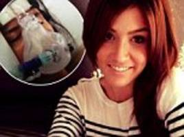 mother, 25, became paraylsed from a rare condition weeks after people thought she was just drunk