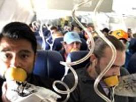 none of the passengers pictured on southwest flight 1380 were wearing their oxygen masks correctly