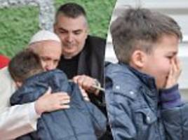 Pope Francis comforts boy who feared atheist father isn't in heaven