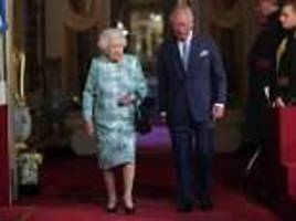 Queen and Prince Charles welcome heads of the Commonwealth to Buckingham Palace