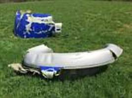 the 110 mile trail of wreckage left by southwest flight 1380 after its engine exploded