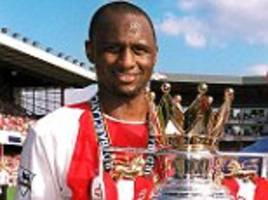 arsene wenger tips patrick vieira to takeover as arsenal boss in the future