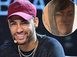 neymar reveals new tattoo of his mum as he continues to recover from his broken foot