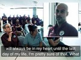 Pep Guardiola tells Manchester City title win 'will be in my heart until the last day of my life'