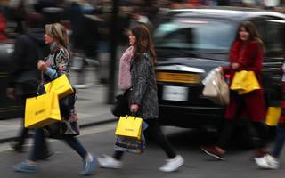 retail sales fall on weather hit but department stores provide bright spot