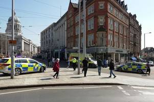 Emergency services called after man is assaulted in Nottingham city centre