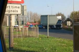 police called as accident on a12 roundabout causes delays