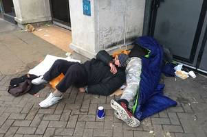 The shocking pictures of how desperate homeless people are in Cambridge's market square