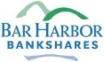 Bar Harbor Bankshares Reports First Quarter Earnings