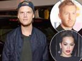 calvin harris and rita ora lead tributes to 'beautiful soul' avicii