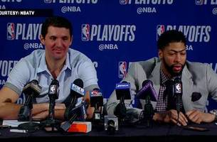 nikola mirotic and anthony davis press conference - game 3 | trail blazers at pelicans