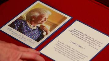 Barbara Bush funeral: Donald Trump not attending 'out of respect'