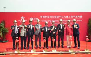 Topping-out at Hong Kong Airlines Aviation Training Centre