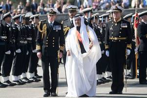 Why was the Crown Prince of Bahrain in Dartmouth the other day?
