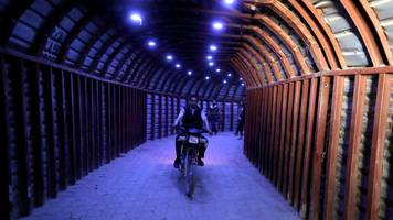Syria 'chemical' attack: Douma's warren of war tunnels revealed