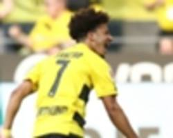 Sancho makes history with first Borussia Dortmund goal