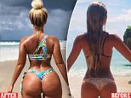 bikini designer, 28, shares amazing before and after photo