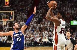 Heat forward Justise Winslow fined for stepping on Joel Embiid's facemask in Game 3