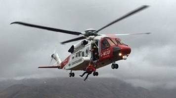 injured woman rescued from yacht off fair isle