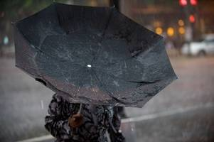 Met Office warns of thunder storms and flooding as rain set to fall for 11 hours