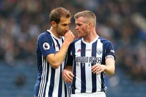 west brom team to face liverpool revealed as jonny evans is named among substitutes