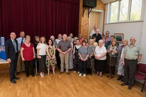 ribbon cut on new-look village hall after completion of refurbishment project