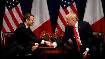 iran nuclear deal: macron urges trump to stick with 2015 accord
