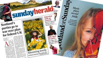 The papers: Scotland's parties go to war