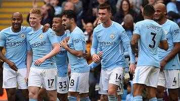 Manchester City 5-0 Swansea City: Pep Guardiola calls for sustained Man City focus