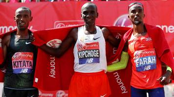 farah finishes third in london marathon