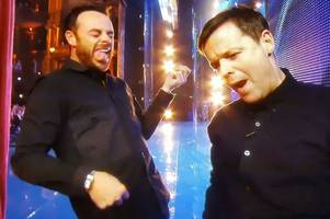 Ant McPartlin plays air guitar on first Britain's Got Talent show after court appearance