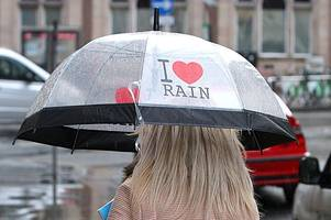 Birmingham braced for days of rain this week after heatwave sparks hottest weekend of year